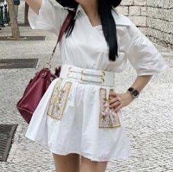White dress + free belt