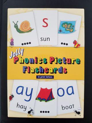 018. Jolly Phonics Picture Flash Cards : in Precursive Letters