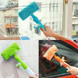 一體式擦玻璃工具玻璃刮窗戶玻璃雙面清潔刮玻璃清潔器