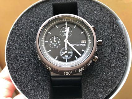 Issey Miyake VK67-0030 日本限量版大字黑鋼帶手錶