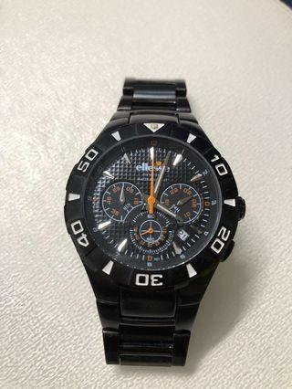 Ellesse 03-0476 黑色鋼帶手錶