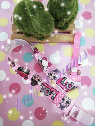 Handmade lol doll pacifier clip / toy clip