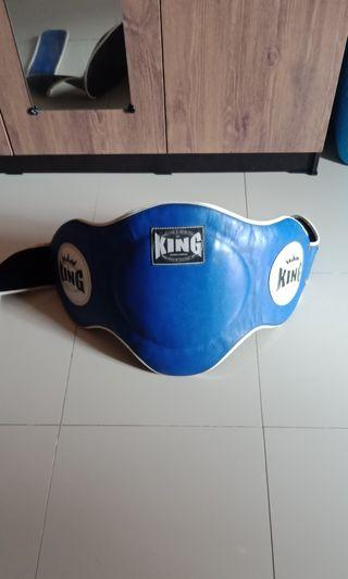 KING Belly Pad Muay Thai/ Sabuk Tinju perut