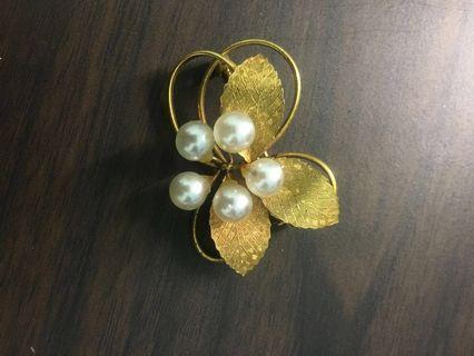 珍珠別針 胸針 金飾品