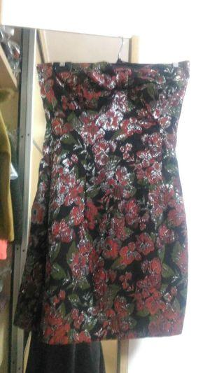 Zara dark red tube dress