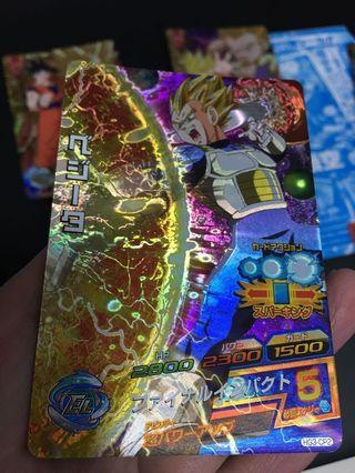 龍珠 dragon ball heroes CP 英雄傳 閃卡 超級比達 vegeta
