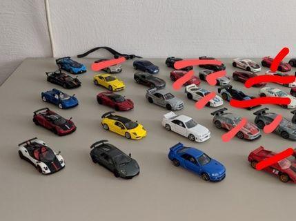 Hot wheels loose speed machines/ferrari racers/koenigsegg/7-11