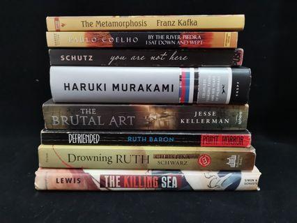BOOKS FOR SALE! Paulo Coelho, Haruki Murakami etc