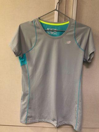 New Balance sport tee 運動衫 灰銀色 女裝