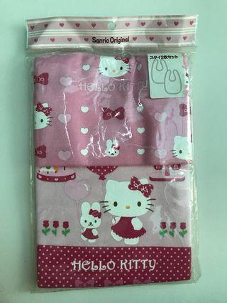 Hello Kitty Bib Set Original Jepang