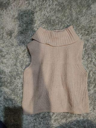 Cropped Roll Neck Knit