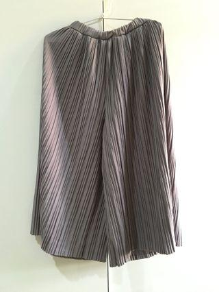 Pleated Midi Culottes (Dusty Purple)