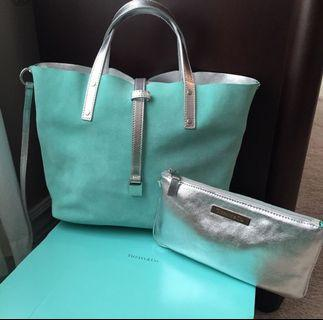 Authentic Limited Edition Tiffany & Co. reversible leather tote (small)