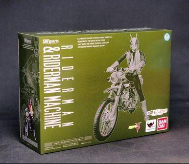特價 日版 Shf 魂限 幪面超人 Kamen Rider 怪金剛 電單車 Riderman & Riderman Machine