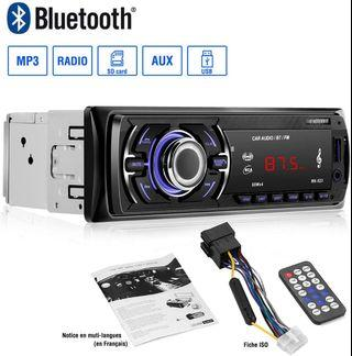 CATUO MP3 Radio Player Bluetooth with Speaker Car Audio FM Receiver MP3 Radio Player with Remote Control Single DIN in Dash