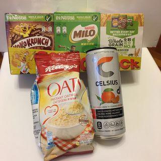 早餐穀麥 麥片加能量飲品