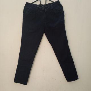Navy pants - celana bahan
