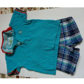 Boy set shirt and shorts 12-18 mths by Ted Baker & Carters