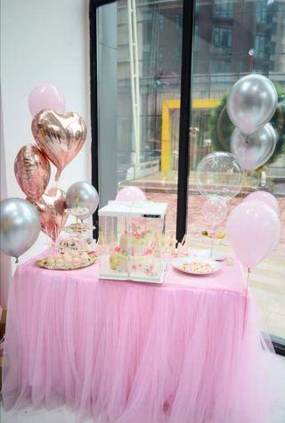 Pink Tulle Table Cloth