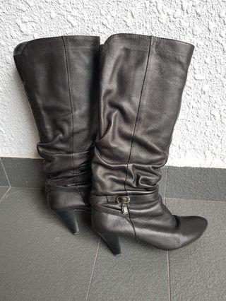 OFFER: Real Leather Easy Slip-on Knee High Boots