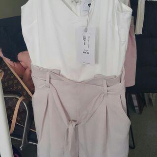 Temp shorts jumpsuit
