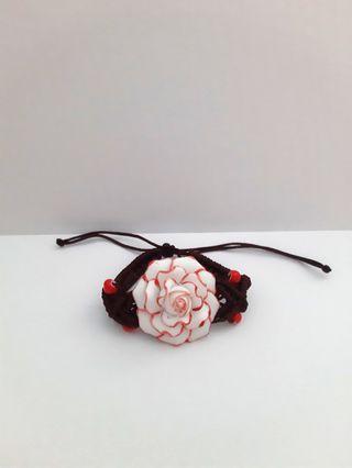 Beautiful braided handmade flora bracelet