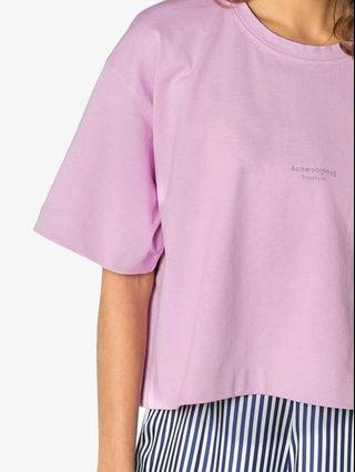 BrandNew Acne Studios cropped candy pink T-shirt