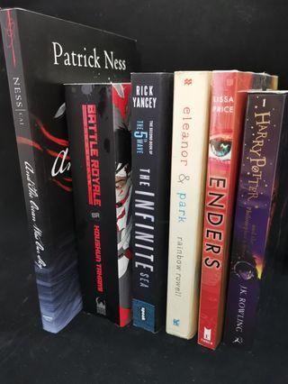 BOOKS FOR SALE! Harry Potter, Battle Royale etc.