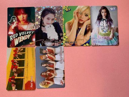 Red Velvet yes card 夜光,閃咭,簽名,白咭