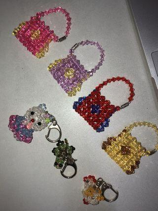 BN Beaded Keychains