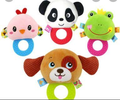 Baby teether rattle bell