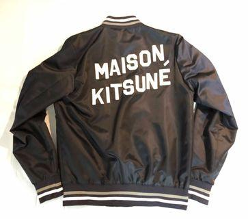 Maison Kitsune Satin Teddy Jacket