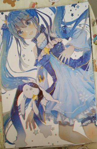 🚚 Hatsune Miku Anime A3 posters