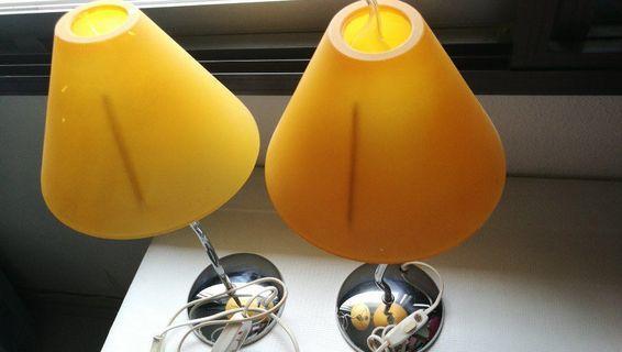 Bedside lights (12cm round base, 40cm height)