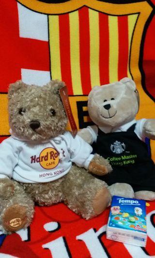 Hard Rock's bear & Starbucks's bear
