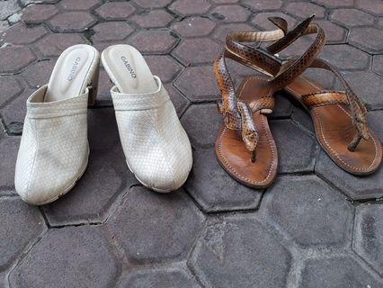 Wedges dan Sandal Ular