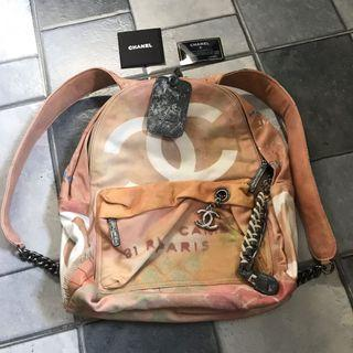 Chanel Grafitti Backpack Large missing rope accessory
