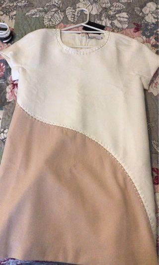 Two tone one piece dress