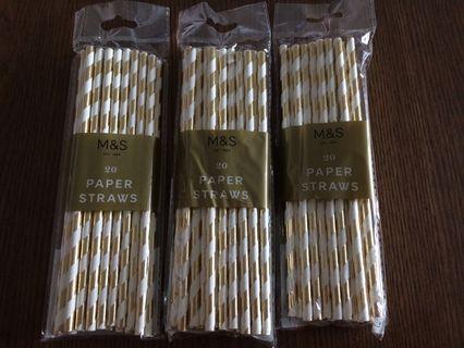 Marks & Spencer Paper Straws