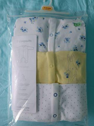 Brand new Mothercare Sleepsuits