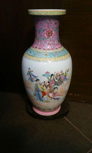 14吋八仙粉彩瓶