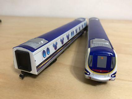 MTR - Disney缐通車紀念車卡x2