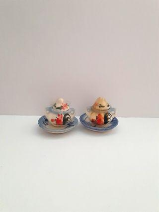 Quote price olden days vinage miniature ceremic tea cup plate set