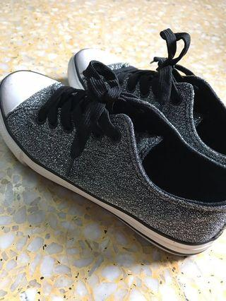 Glittery Material Sneakers