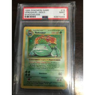 Pokemon Card Venusaur (奇異花) Shadowless Base Set PSA 9
