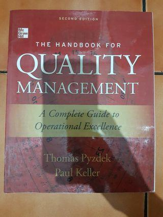 The Handbook for Quality Management