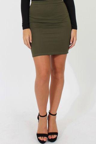 BNWT Cotton On Green Ribbed Bandage Skirt