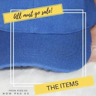 Plain cap unisex blue pink