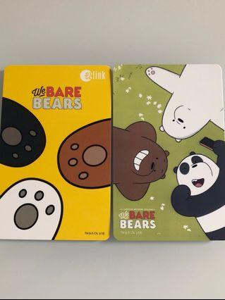 Brand new limited edition We Bare Bear yellow and green design Ezlink cards for sale . #EndgameYourExcess