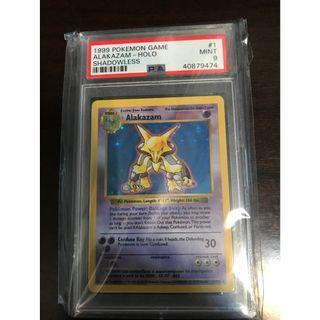 Pokemon Card Alakazam (富迪) Shadowless Base Set PSA 9